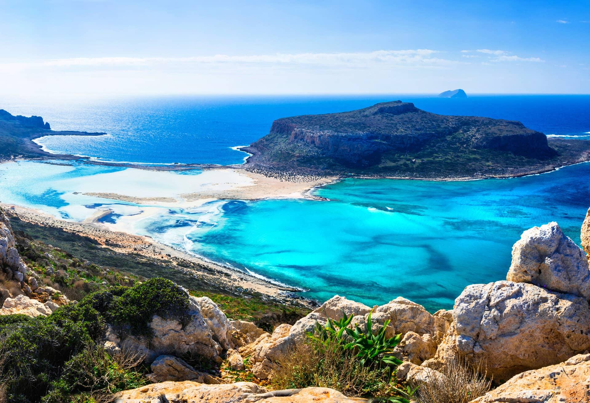 Una vista mozzafiato su Creta, Grecia.
