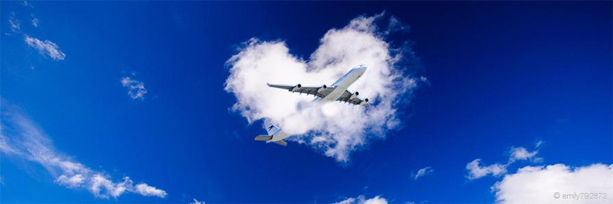 L'amore è nell'aria: rendi il tuo volo più interessante