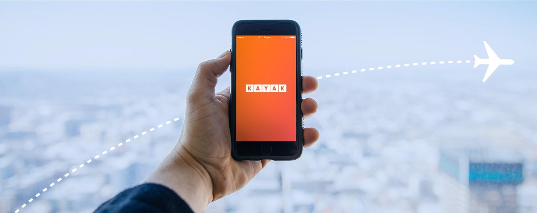 Un nuovo design per l'app di KAYAK